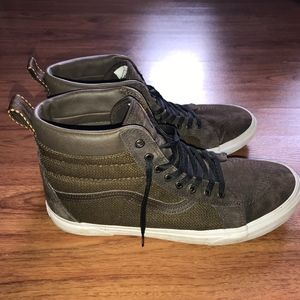 brown high top vans